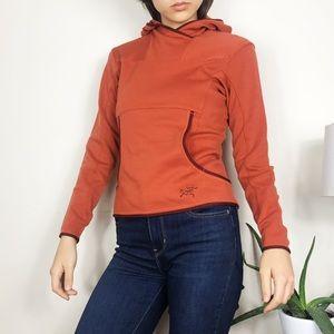 Arc'teryx Merino Wool Pullover Hooded Sweatshirt